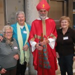 The ladies of Holy Rosary church, together with Saint Nicholas.